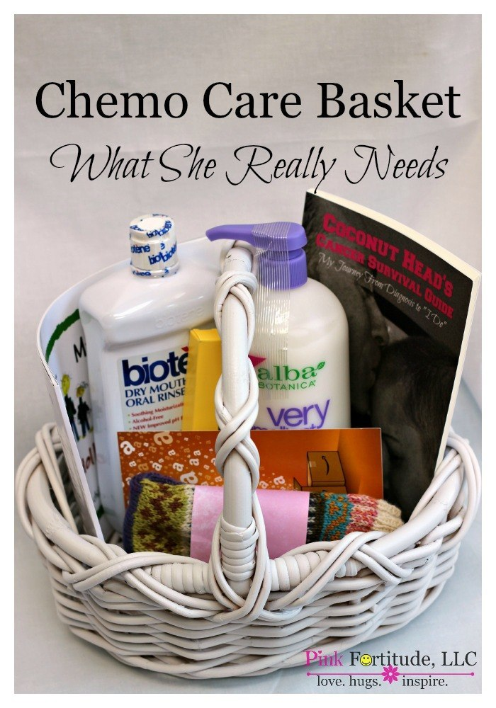 Elegant Chemo Gift Basket Photograph Of Basket Decorative