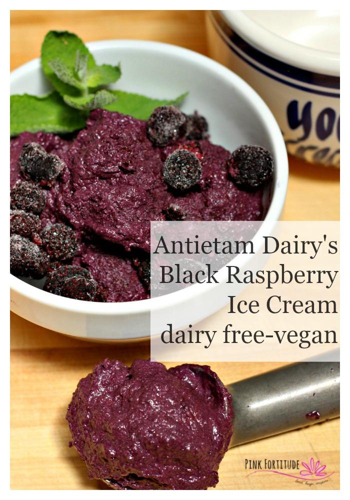 Antietam Dairy's Black Raspberry Ice Cream (dairy free/vegan)