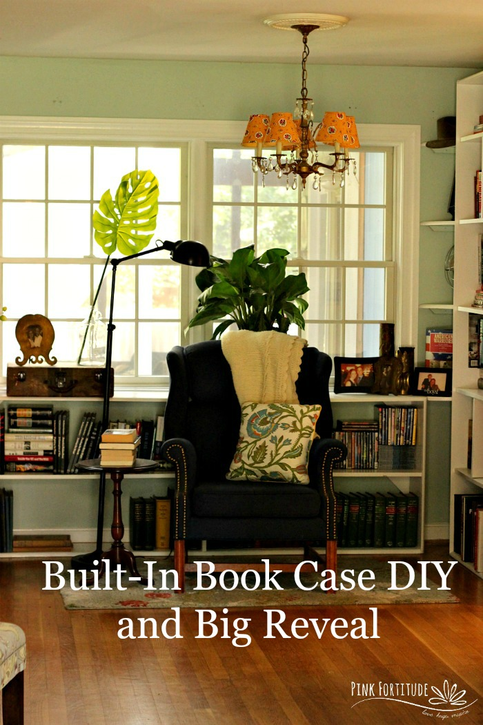 Built-In Book Case DIY and Big Reveal